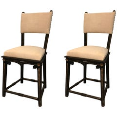 Napoleon III Pair Small Side Chairs, France, 19th Century