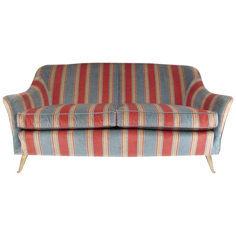 Italian Modern Gio Ponti Style Two-Seat Sofa
