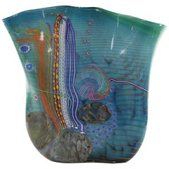 Chris Hawthorne and James Nowak Art Glass Aquarium Vase, circa 1989