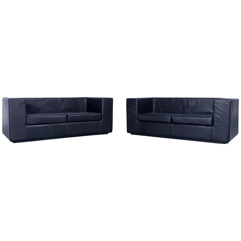 Zanotta Throw Away Sofa Set Black Two Seat Couch Design Willie Landels At 1stdibs
