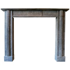Late 18th Century Irish Grey Marble Fireplace Mantle