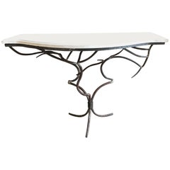 Wrought Iron Branches Console