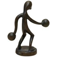 Little Bronze Boxer Miniature Figurine