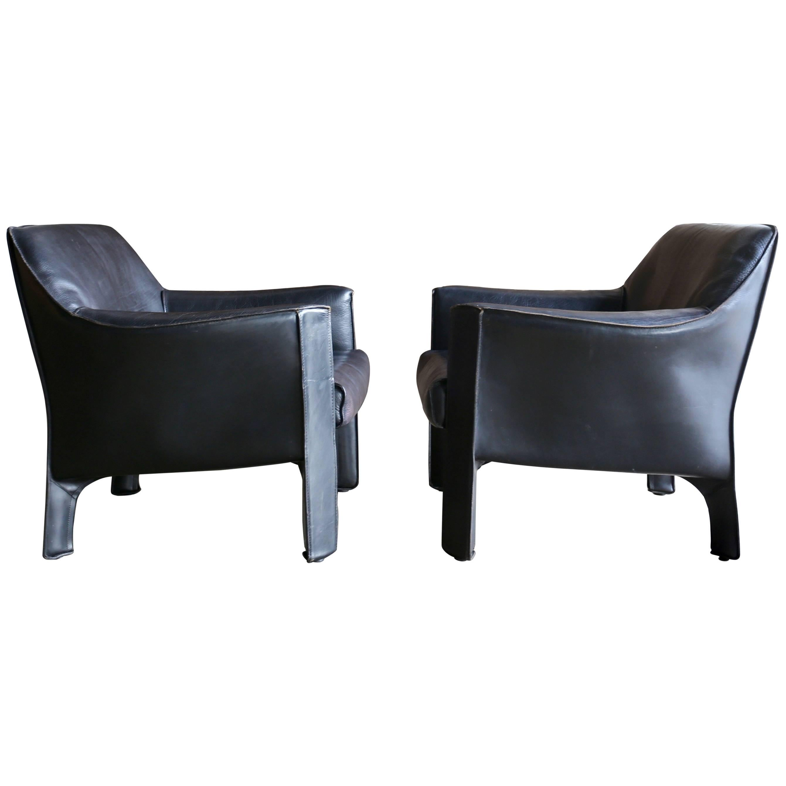 Genial Pair Of Large CAB Lounge Chairs By Mario Bellini For Cassina For Sale