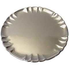 Georg Jensen Sterling Silver Round Tray #519A