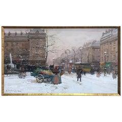 """Eugène Galien Laloue """"La Place Pigalle"""", circa 1910"""
