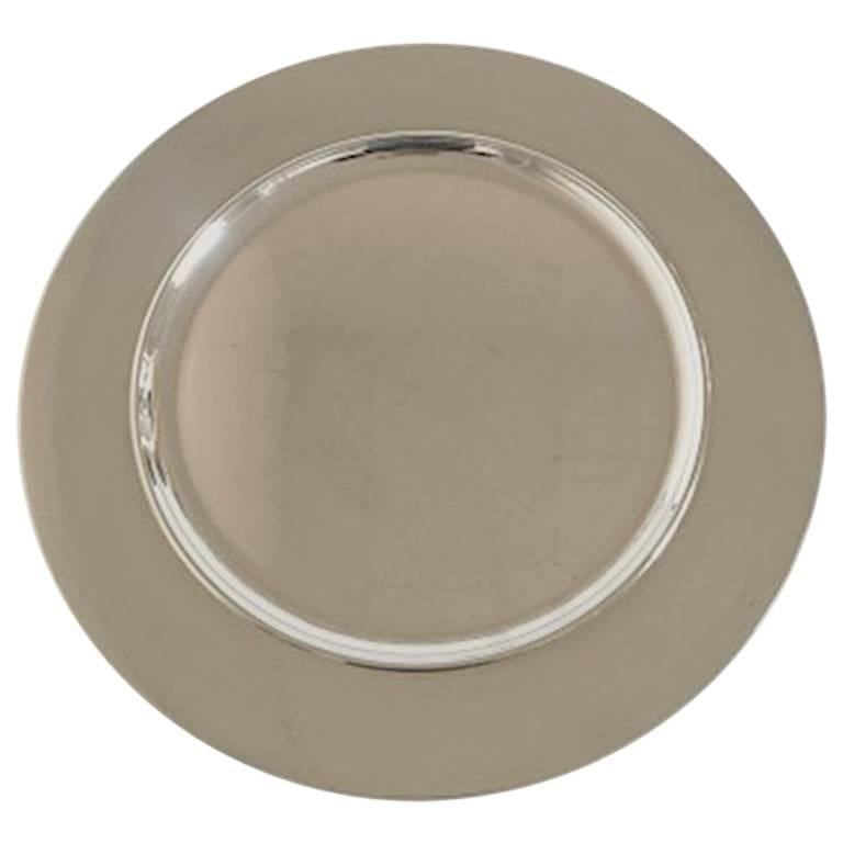 Georg Jensen Sterling Silver Tray No. 587 E. Design by Johan Rohde