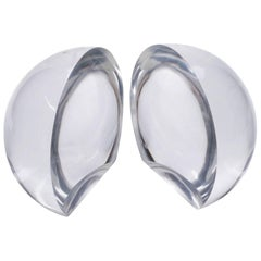 Spherical Shape Lucite Bookends