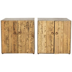Rustic Pine and Steel Cabinets--sold Singly