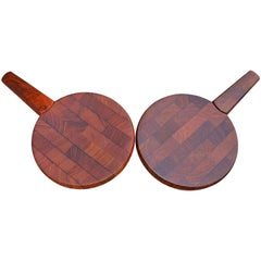 Pair of Jens Quistgaard for Dansk Single Teak Cutting Boards with Hidden Knives