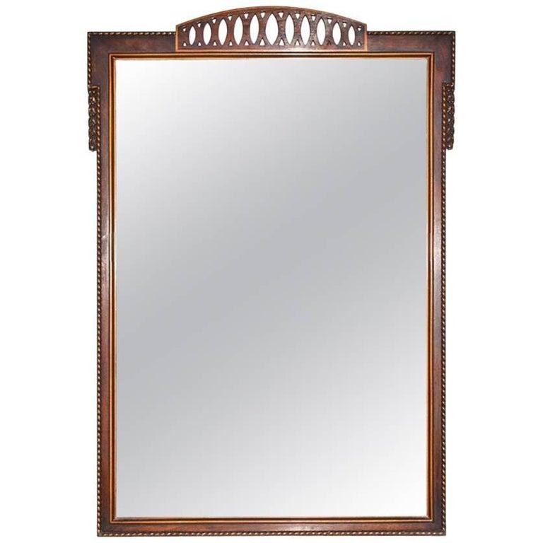 Vintage Neoclassical Mahogany Mirror