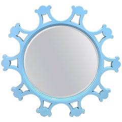Tony Duquette Style Turquoise Sunburst Mirror