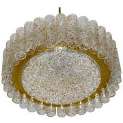 Glass Chandelier by Doria Leuchten, Germany, 1960s