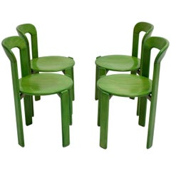 Green Dining Room Chairs by Bruno Rey, 1971, Switzerland