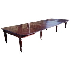 Early 19th Century Regency Mahogany English Antique Dining Table by James Winter