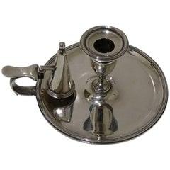 Antique Sterling Silver Chamberstick London 1797 John Edwards III