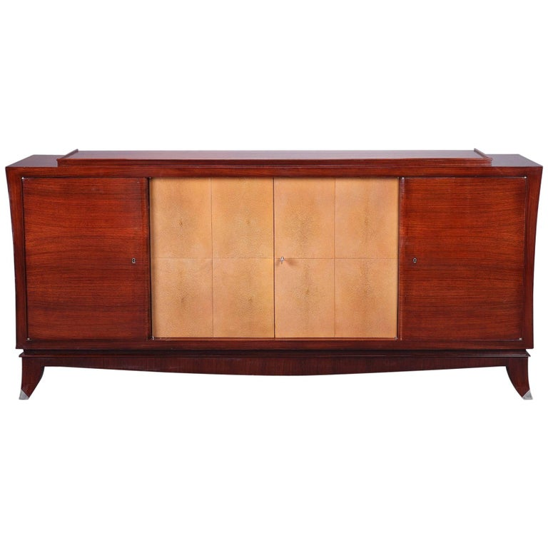 20th Century Art Deco Rosewood, Mahogany and Galuchat Cabinet