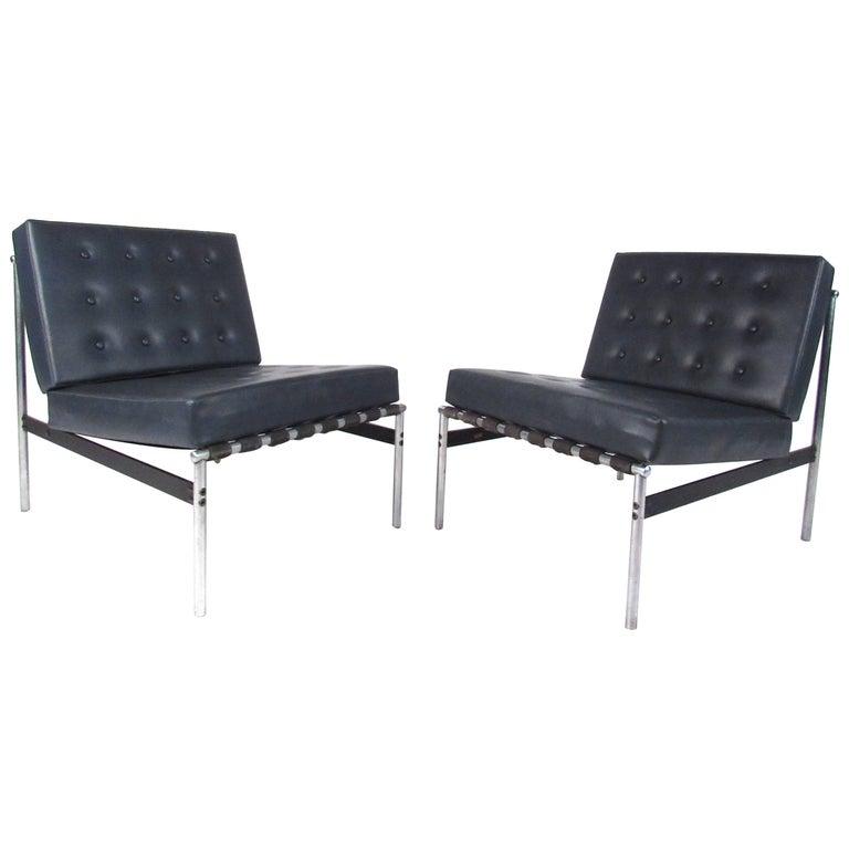 Pair of Mid-Century Modern Italian Slipper Chairs