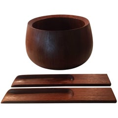 Jens Quistgaard Dansk Teak Salad Set of Three-Piece