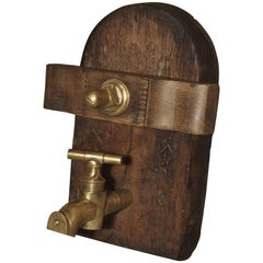 Antique Wine Cask Access Door, France, circa 1890