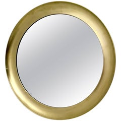 Large Brass Wall Mirror by Sergio Mazza, Italy, 1970s