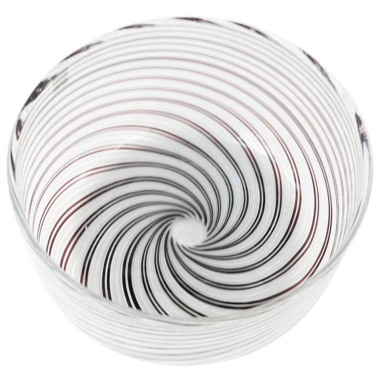 Signed Cartier Art Glass Bowl