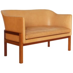 Mogens Koch Sofa in Mahogany and Leather for Rud. Rasmussen