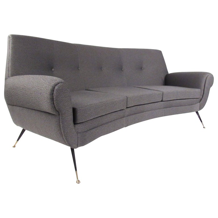 Vintage Italian Modern Sofa by Gigi Radice For Sale