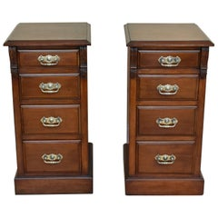 Pair of Edwardian Walnut Bedside Chests