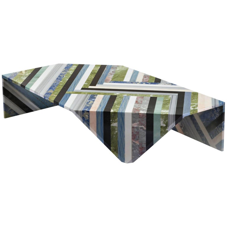 Origami Marble Living Table For Sale