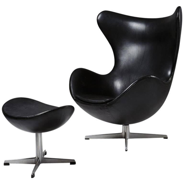 Armchair And Foot Stool The Egg Designed By Arne Jacobsen For