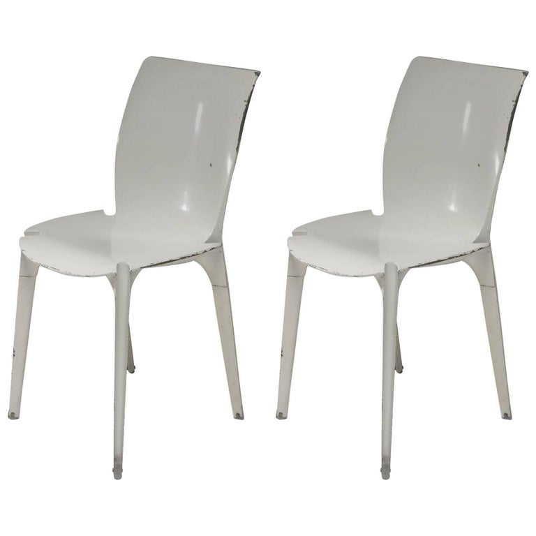 "Pair of ""Lambda"" Chairs by Richard Sapper and Marco Zanuso for Gavina"
