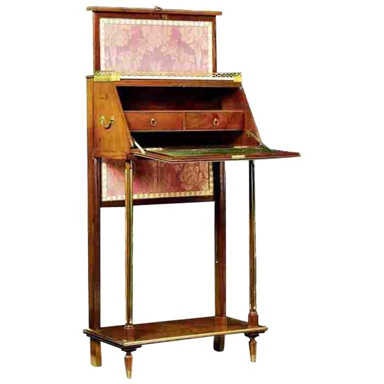 French 19th Century Mahogany Travel Writing Desk