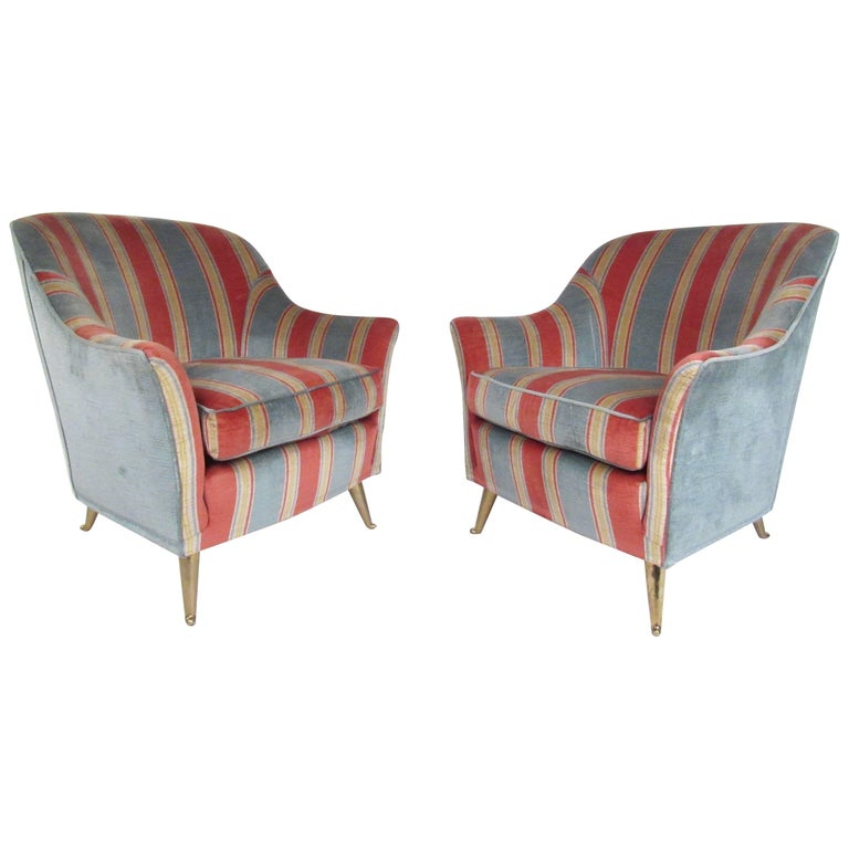 Italian Modern Lounge Chairs in the Style of Gio Ponti
