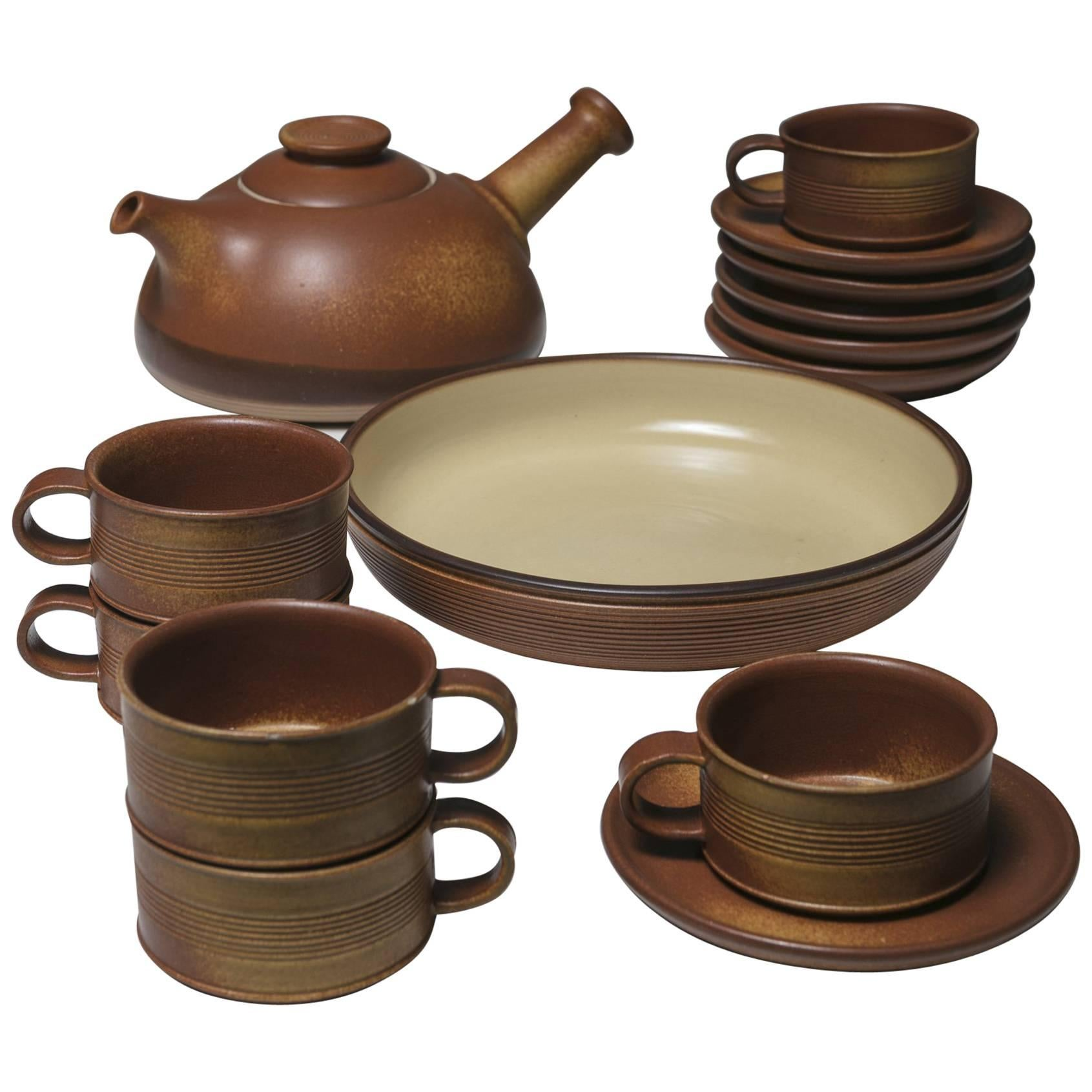Ceramic Tea Set by Franco Bucci for Laboratorio Pesaro