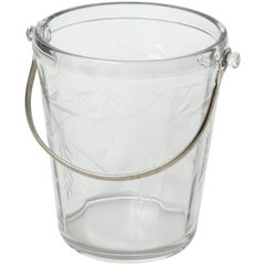 Art Deco Etched Crystal Ice Bucket