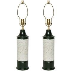 Bitossi Emerald/Birch Tree Glazed Lamps