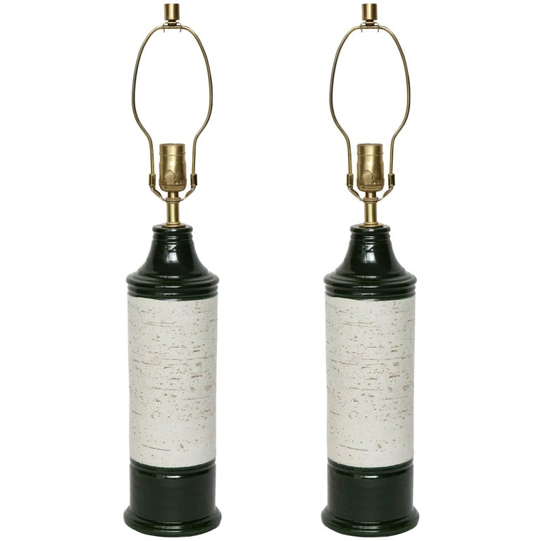 Bitossi Emerald/Birch Tree Glazed Lamps