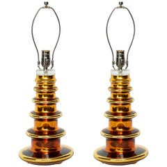 Johansfors Gold Mercury Glass TOTEM Lamps