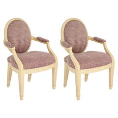 Pair of Custom Steve Chase Dining Chairs