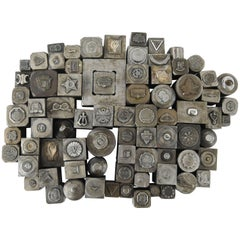 Antique Metal Die Stamp/Seal Collection