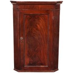 Antique Hanging Mahogany Corner Cabinet, circa 1820