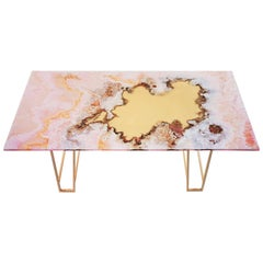 Canyon Dining Table, Pink Onyx