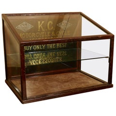 Very Rare Kansas City, Motorcycle and Cycle Accessories Display Cabinet