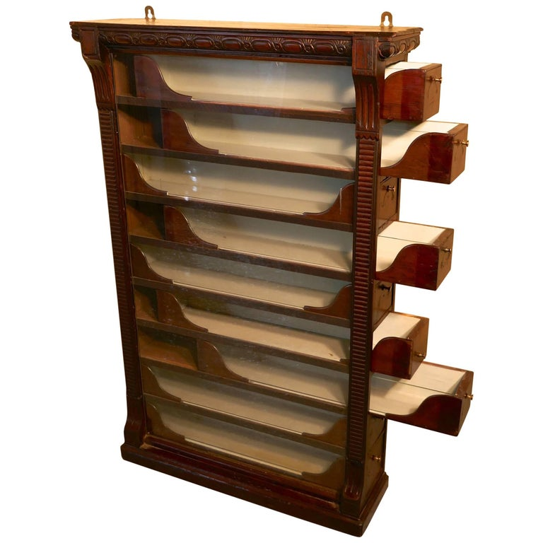 Nine-Drawer Cigarette Cabinet, by Stephen Mitchell and Sons of Glasgow