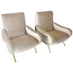 Pair of Lady Chairs by Marco Zanuso by Arflex
