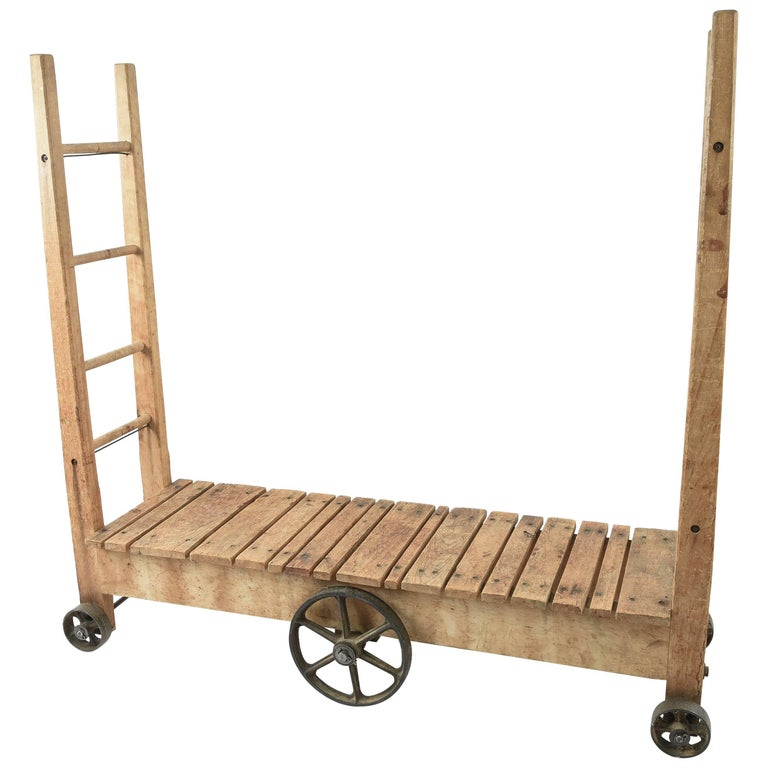 "Unusual Antique Industrial Cart ""U-Boat"""
