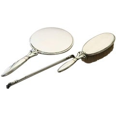 Georg Jensen Sterling Silver Harald Nielsen Mirror, Brush and Comb #172