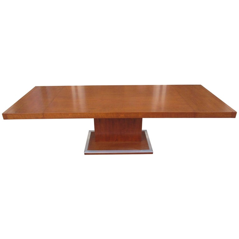 Milo Baughman for Founders Walnut Extension Dining Table For Sale