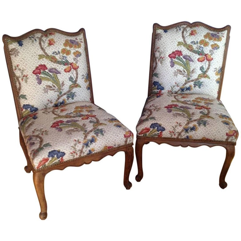 Pair of French Louis XV Style Chairs